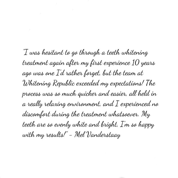 Client review after teeth whitening from Traralgon