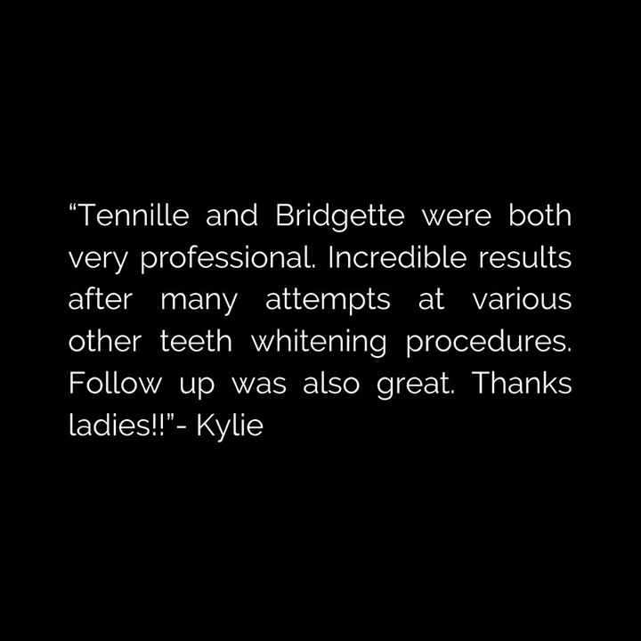 Client review after teeth whitening from Berwick